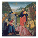 The Adoration of the Magi, 1479 (Tempera on Panel) Giclée-tryk af Domenico Ghirlandaio