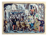 Republican Allegory Celebrating the French Constitution of 1876 (Colour Litho) Giclee Print by  French