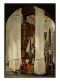 The Nieuwe Kerk at Delft with the Tomb of Willem the Silent, C.1650/51 (Oil on Oak Panel) Giclee Print by Emanuel de Witte