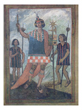 Inhabitants of the New World Encountered by Christopher Columbus on His First Voyage in 1492 Giclee Print by  Spanish