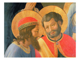 Deposition from the Cross, Detail of Two Saints, 1436 (Tempera and Gold on Panel) Giclee Print by  Fra Angelico