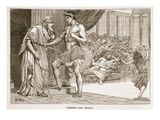Theseus and Aegeus (Litho) Giclee Print by  English