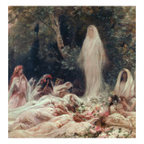 Apparition, Illustration for a Literary Work by Edmond Rostand (1868-1918) Giclee Print by Georges Clairin