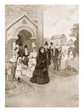 Queen Victoria's Life at Osborne: Her Majesty at Whippingham Church Giclee Print by Amedee Forestier
