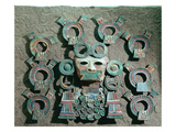 Incense Burner (Detail), C.350-550 (Polychrome Terracotta) Giclee Print by  Teotihuacan