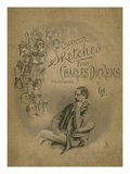 Front Cover of 'Character Sketches from Charles Dickens', C.1890 (Colour Litho) Giclee Print by Joseph Clayton Clarke