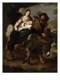 The Flight into Egypt, C.1647/50 (Oil on Canvas) Giclée-Druck von Bartolome Esteban Murillo