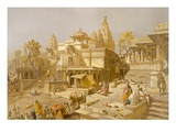 The Temple of Juggernauth, Oodepoore, from 'India Ancient and Modern', 1867 (Colour Litho) Giclee Print by Salvador Dali