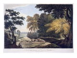 Hill Village in the District of Bauhelepoor, 1787 (Aquatint) Giclee Print by William Hodges