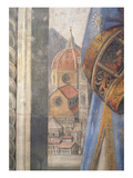 The Duomo, Detail from the Fresco in the Sala Dei Gigli, C1470 (Fresco) Giclée-tryk af Domenico Ghirlandaio