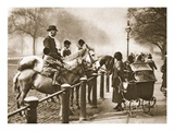 A Riding Lesson in Rotten Row, from 'Wonderful London', Published 1926-27 (Photogravure) Giclee Print by  English Photographer