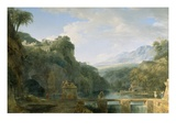 Landscape of Ancient Greece, 1786 (Oil on Canvas) Giclee Print by Pierre Henri de Valenciennes