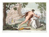 Hercules and Achelous, Book IX, Illustration from Ovid's Metamorphoses, Florence, 1832 Giclee Print by Luigi Ademollo
