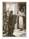 Caesar Possessing Himself of the Treasure in the Temple of Saturn (Litho) Giclee Print by  English