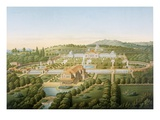 Aerial View of the Villa of King Guillaume of Wurtemberg, Published 1860 Giclee Print by  German