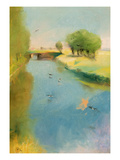 Canal, 1897 (Pastel on Canvas) Giclee Print by Lesser Ury