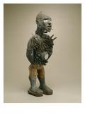 Nail Figure (Nkisi N'Kondi) Yombe, Congo (Mixed Media) Giclee Print by  African