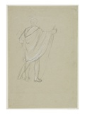Standing Indian (Graphite Pencil on Paper) Giclee Print by Thomas Cole
