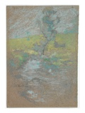 The Stream (Pastel and Graphite Pencil on Paper) Giclee Print by John Henry Twachtman