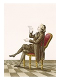 Young Gentleman Poet, Engraved by Dupin, Plate No.34 from 'Galeries Des Modes Et Costumes Francais' Giclee Print by Pierre Thomas Le Clerc
