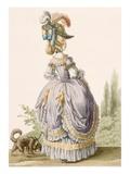 Robe De La Circassienne, Engraved by Voysard, from 'Galeries Des Modes Et Costumes Francais' Giclee Print by Claude Louis Desrais