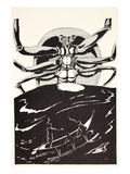 Pau Amma the Crab Rising Out of the Sea as Tall as the Smoke of Three Volcanoes Giclee Print by Rudyard Kipling
