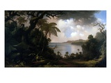 Jamaica, View from Fern-Tree Walk, 1887 (Oil on Canvas) Reproduction proc&#233;d&#233; gicl&#233;e par Martin Johnson Heade