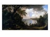 Jamaica, View from Fern-Tree Walk, 1887 Giclée-tryk af Martin Johnson Heade
