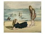 On the Beach, c.1868 Premium Giclee Print by Édouard Manet
