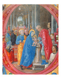 Corale B 26 C.113R Historiated Initial 'C' Depicting the Presentation in the Temple Giclee Print by  Tommaso di Baldassare