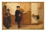Harmensz Van Rijn Rembrandt (1606-69) Knocking on Door of Theatrum Anatomicum Collegium… Giclee Print by Christoffel Bisschop