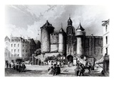 The Petit Chatelet in the Seventeenth Century (Engraving) Giclee Print by  French