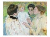 Women Admiring a Child, 1897 (Pastel on Paper) Impression giclée par Mary Cassatt