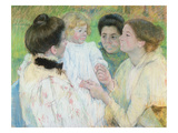 Women Admiring a Child, 1897 (Pastel on Paper) Giclee Print by Mary Cassatt