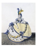 Court Dress, Fig. 106 from 'The Gallery of Fashion', 1797 (Coloured Engraving) Giclee Print by Nicolaus von Heideloff