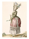 Provencial Style Lady's Walking Gown, Engraved by Dupin, Plate No.17 Giclee Print by Claude Louis Desrais