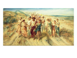 The Poet Anacreon (570-485 BC) with His Muses, 1890 Giclee Print by Norbert Schroedl