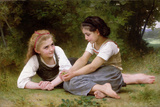 The Nut Gatherers, 1882 Premium Giclee Print by William Adolphe Bouguereau