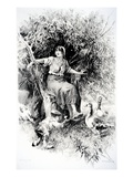 Fadette, Illustration from 'Little Fadette' by George Sand (Engraving) Giclée-Druck von Alcide Theophile Robaudi