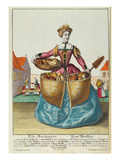 A Baker, C.1735 (Coloured Engraving) Giclee Print by Martin Engelbrecht