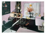 Example of a Living/Dining Room, 1950S (Photo) Giclee Print by  English Photographer