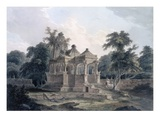 Hindu Temple in the Fort of the Rohtas, Bihar, India (W/C on Paper) Giclee Print by Thomas Daniell