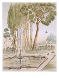 A Garden in Turkey, 19th Century (Chromolith) Giclee Print by A. de Beaumont