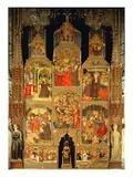 Altarpiece of the Virgin (Oil on Panel) Giclee Print by Lluis Borrassa
