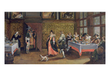 Masked Guests (Oil on Panel) (See 254068) Giclee Print by  Flemish
