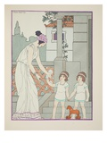 Identical Twins, Illustration from 'The Works of Hippocrates', 1934 (Colour Litho) Giclee Print by Joseph Kuhn-Regnier