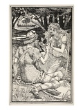I Have Drink Here Worthier of a Hero', Said Sunbright with a Smile Giclee Print by Walter Crane