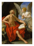 Angel Appearing to St. Jerome, C.1640 (Oil on Canvas) Giclee Print by Guido Reni