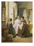 The Dressmakers (Oil on Panel) Giclee Print by Jules Trayer