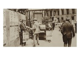 Newspaper Sellers in Trafalgar Square, from 'Wonderful London', Published 1926-27 (Photogravure) Giclee Print by  English Photographer